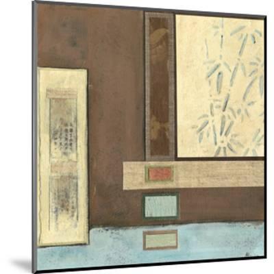 Chinese Scroll in Blue I-Mauro-Mounted Art Print
