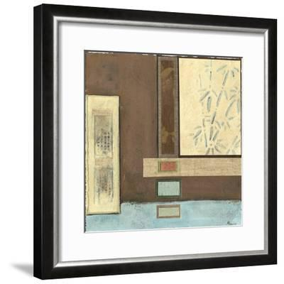 Chinese Scroll in Blue I-Mauro-Framed Art Print
