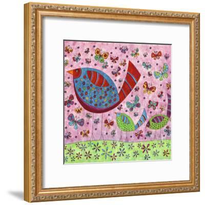 Bird Walk-Kim Conway-Framed Art Print