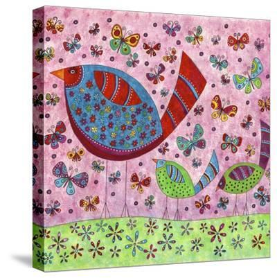 Bird Walk-Kim Conway-Stretched Canvas Print