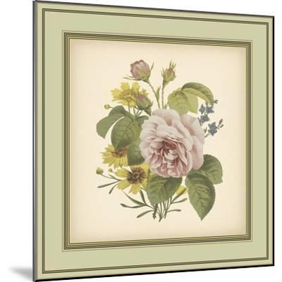 Tuscany Bouquet VIII-Vision Studio-Mounted Art Print
