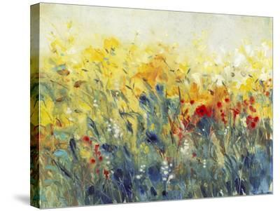 Flowers Sway I-Tim O'toole-Stretched Canvas Print