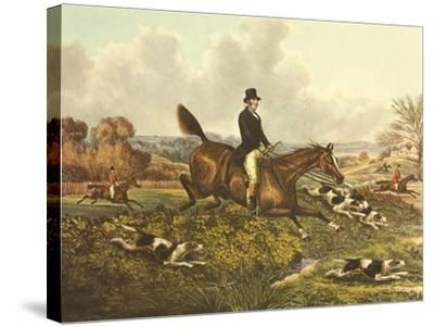 The English Hunt VII-Henry Alken-Stretched Canvas Print