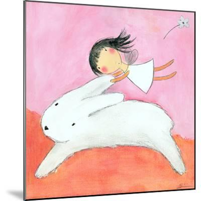 Fairy on Hare-Carla Sonheim-Mounted Art Print