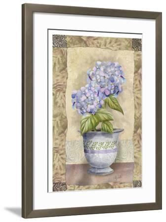 Spring Hydrangea-Abby White-Framed Art Print