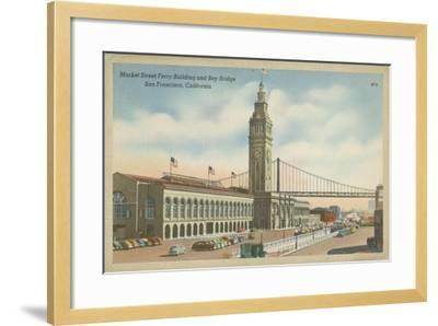 San Francisco- Market Street--Framed Art Print