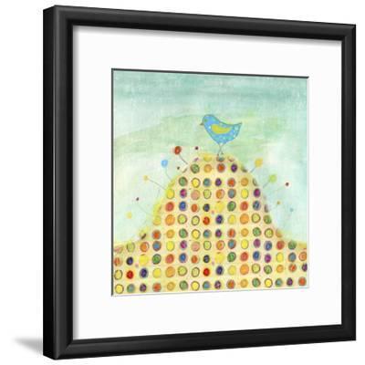 Feathers, Dots & Stripes XIII-Ingrid Blixt-Framed Art Print