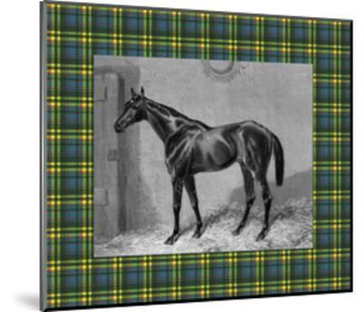 Equestrian Plaid II-E^ Hacker-Mounted Art Print