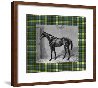 Equestrian Plaid II-E^ Hacker-Framed Art Print