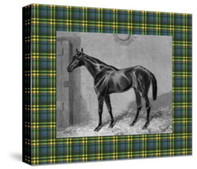 Equestrian Plaid II-E^ Hacker-Stretched Canvas Print