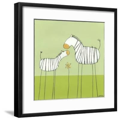 Stick-leg Zebra II-June Erica Vess-Framed Art Print