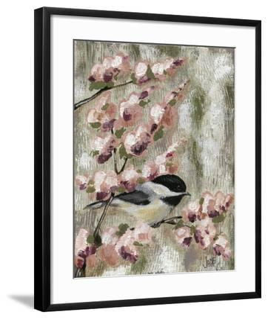 Cherry Blossom Bird I-Jade Reynolds-Framed Art Print