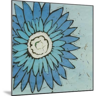 Turquoise Batik Botanical III-Andrea Davis-Mounted Art Print