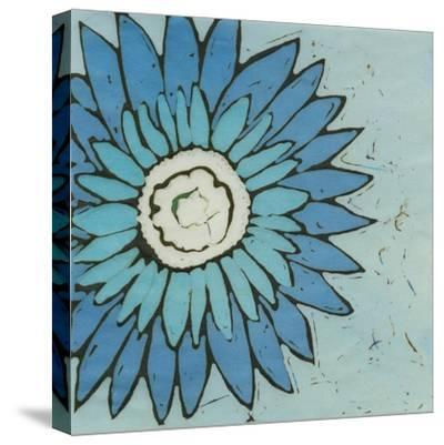 Turquoise Batik Botanical III-Andrea Davis-Stretched Canvas Print