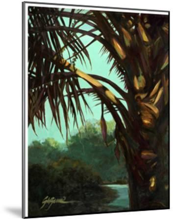 Dark Palm-Suzanne Wilkins-Mounted Art Print