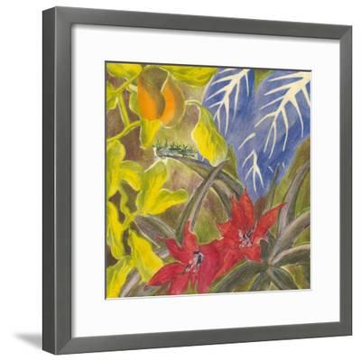 Tropical Monotype I-Carolyn Roth-Framed Art Print