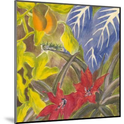 Tropical Monotype I-Carolyn Roth-Mounted Art Print