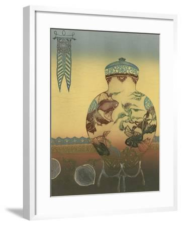 Halcyon Urn II--Framed Art Print
