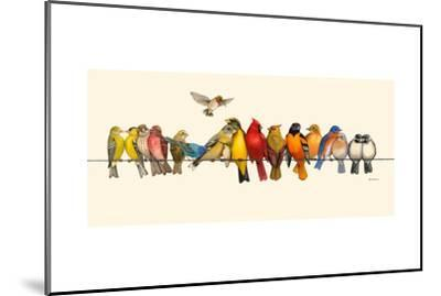 Bird Menagerie I-Wendy Russell-Mounted Art Print