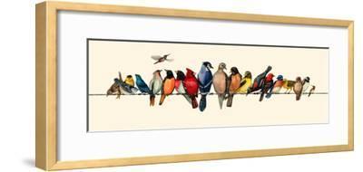 Bird Menagerie III-Wendy Russell-Framed Art Print