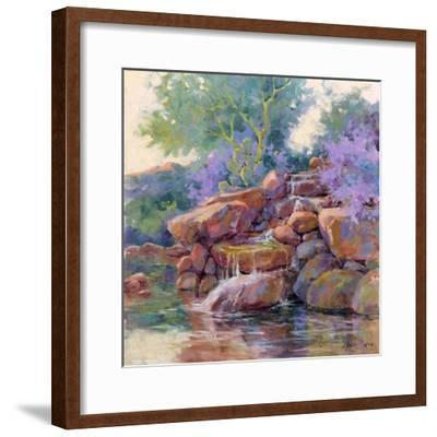 Desert Stream-Julie G^ Pollard-Framed Art Print