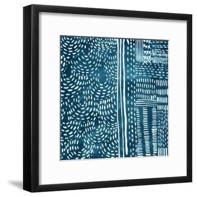 Sashiko Stitches II-Chariklia Zarris-Framed Premium Giclee Print