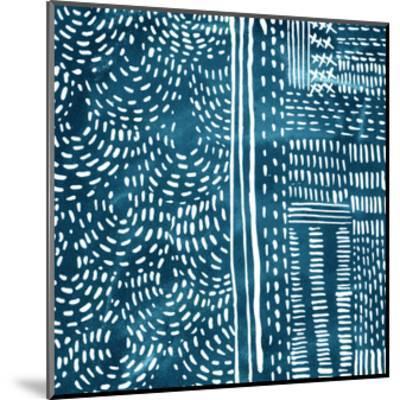 Sashiko Stitches II-Chariklia Zarris-Mounted Premium Giclee Print
