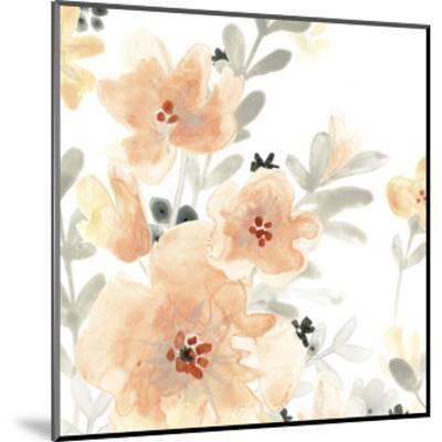 Blush Garden III-June Vess-Mounted Premium Giclee Print