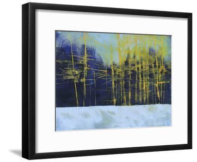 Golden Winter Pines-Paul Bailey-Framed Premium Giclee Print