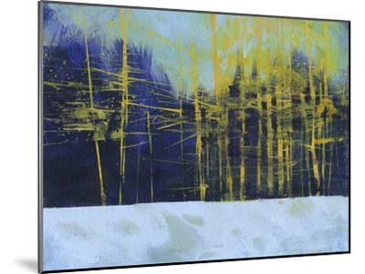 Golden Winter Pines-Paul Bailey-Mounted Premium Giclee Print