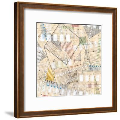 Grid Lines II-Nikki Galapon-Framed Premium Giclee Print