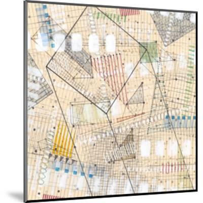 Grid Lines II-Nikki Galapon-Mounted Premium Giclee Print