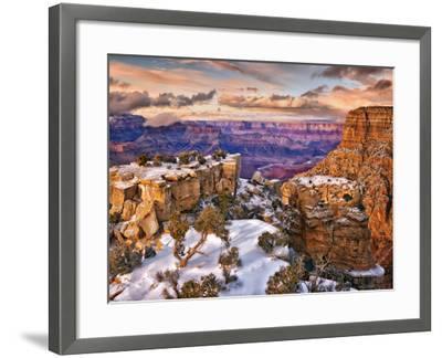 Snowy Grand Canyon V-David Drost-Framed Photographic Print