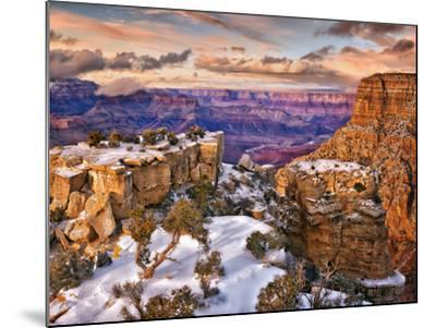Snowy Grand Canyon V-David Drost-Mounted Photographic Print