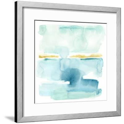 Liquid Shoreline VI-June Vess-Framed Premium Giclee Print