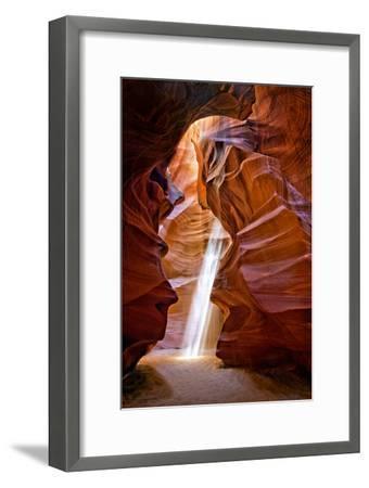 Sun Shining Through Canyon IV-David Drost-Framed Photographic Print