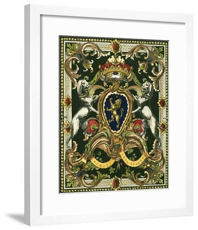 Crest on Black I--Framed Art Print