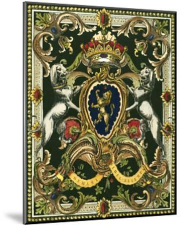 Crest on Black I--Mounted Art Print