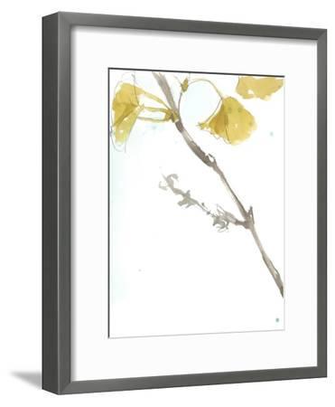 Ginkgo on Dusty Teal VI-Jennifer Goldberger-Framed Premium Giclee Print