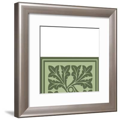 Tonal Woodblock in Green III-Vision Studio-Framed Art Print