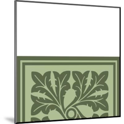 Tonal Woodblock in Green III-Vision Studio-Mounted Art Print