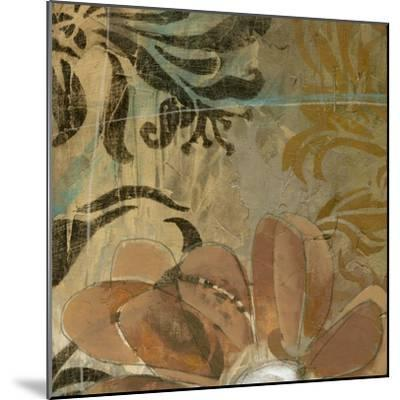 Cropped Floral Abstraction II-Jennifer Goldberger-Mounted Art Print