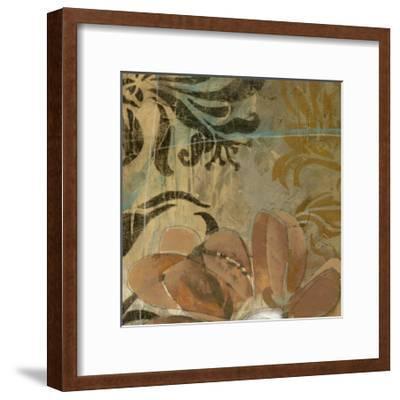Cropped Floral Abstraction II-Jennifer Goldberger-Framed Art Print