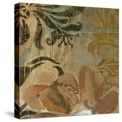 Cropped Floral Abstraction II-Jennifer Goldberger-Stretched Canvas Print