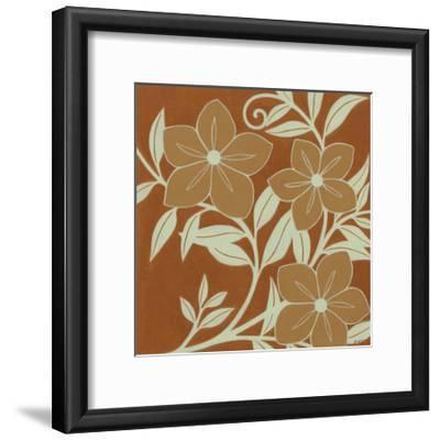 Tan Flowers with Mint Leaves I-Norman Wyatt, Jr^-Framed Art Print