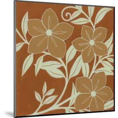 Tan Flowers with Mint Leaves I-Norman Wyatt, Jr^-Mounted Art Print