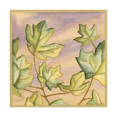 Luminous Leaves III-Megan Meagher-Framed Art Print