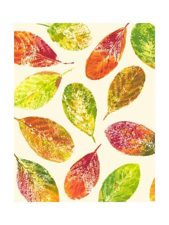 Vibrant Leaves I-Luisa Tosini-Framed Art Print