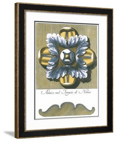 Blue & Yellow Rosette I-Vision Studio-Framed Art Print