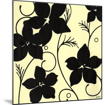 Cream with Black Flowers-Norman Wyatt, Jr^-Mounted Art Print